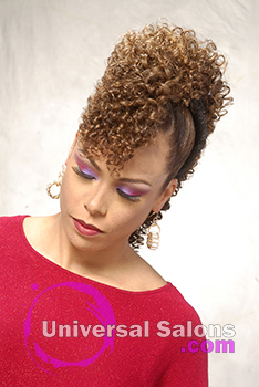 Front View Curly Mohawk Hairstyle with Twists from Shae Thompson
