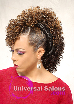 Left Side Curly Mohawk Hairstyle with Twists from Shae Thompson