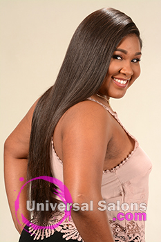 Back View of a Long Hairstyle for Black Women from Yoshie Brown