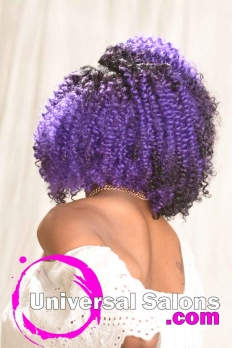 Bob Hairstyle with Sew-In Purple Hair Color from Amber McClain (6)