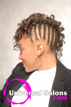 Curly Black Hairstyle with Braids from Erma Stephens (3)