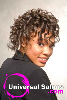 Curly Black Hairstyle with Braids from Erma Stephens (4)