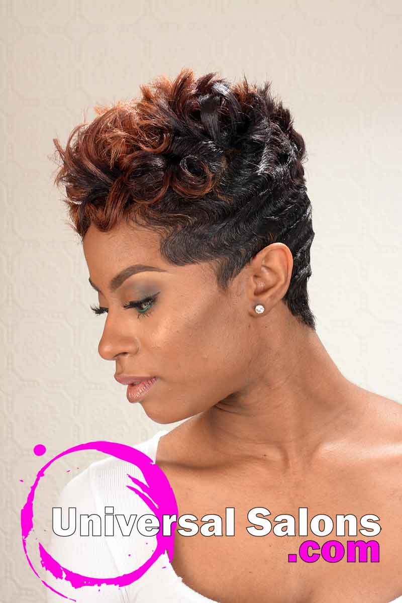 Flaming Desire Short Hairstyle with Spikes from ShaTrenia Heiskell (2)