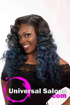 Left Side View Long Curly Hairstyle for Black Women from Jacqard Daniels (3)