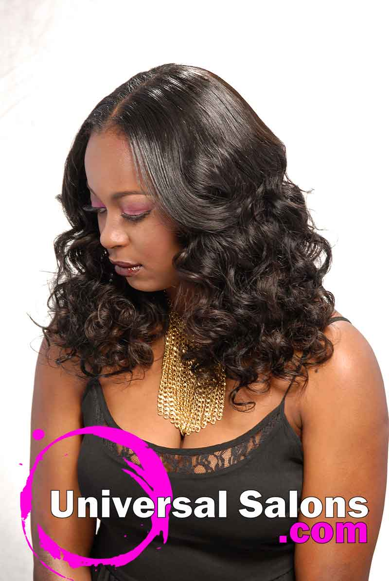 Long, Full-Bodied, Sew-In Weave Hairstyle from Denise Granberry (3)