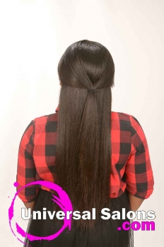 Long Kid's Hairstyle with Side Bangs from RaTishayehshen Bacon (3)