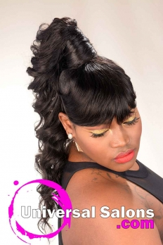 Long Ponytail Hairstyle for Black Women from Amber McClain  (2)
