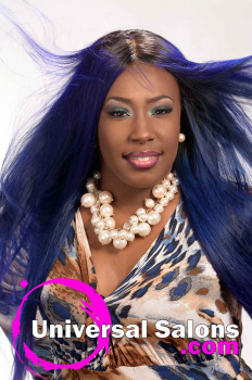 Long Royal Blue Hairstyle for Black Women from Evenia Bush (2)