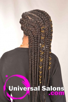 Long Sideway Sassy Braids Hairstyle from Amber McClain (2)