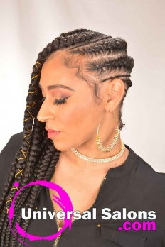 Long Sideway Sassy Braids Hairstyle from Amber McClain (5)
