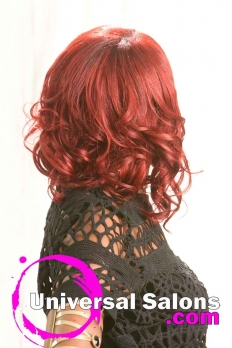 Mid-Length Vherry Red Hairstyle from Katina King (5)