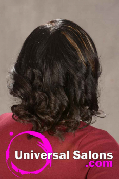 Natural Flat Ironed Hairstyle with Color from Ashley Tolbert (5)
