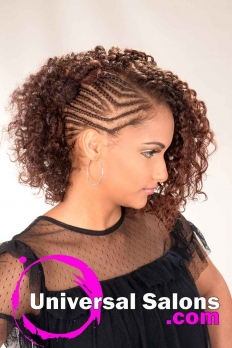 Natural Hairstyle with Braided Knots from Erma Stephens (4)