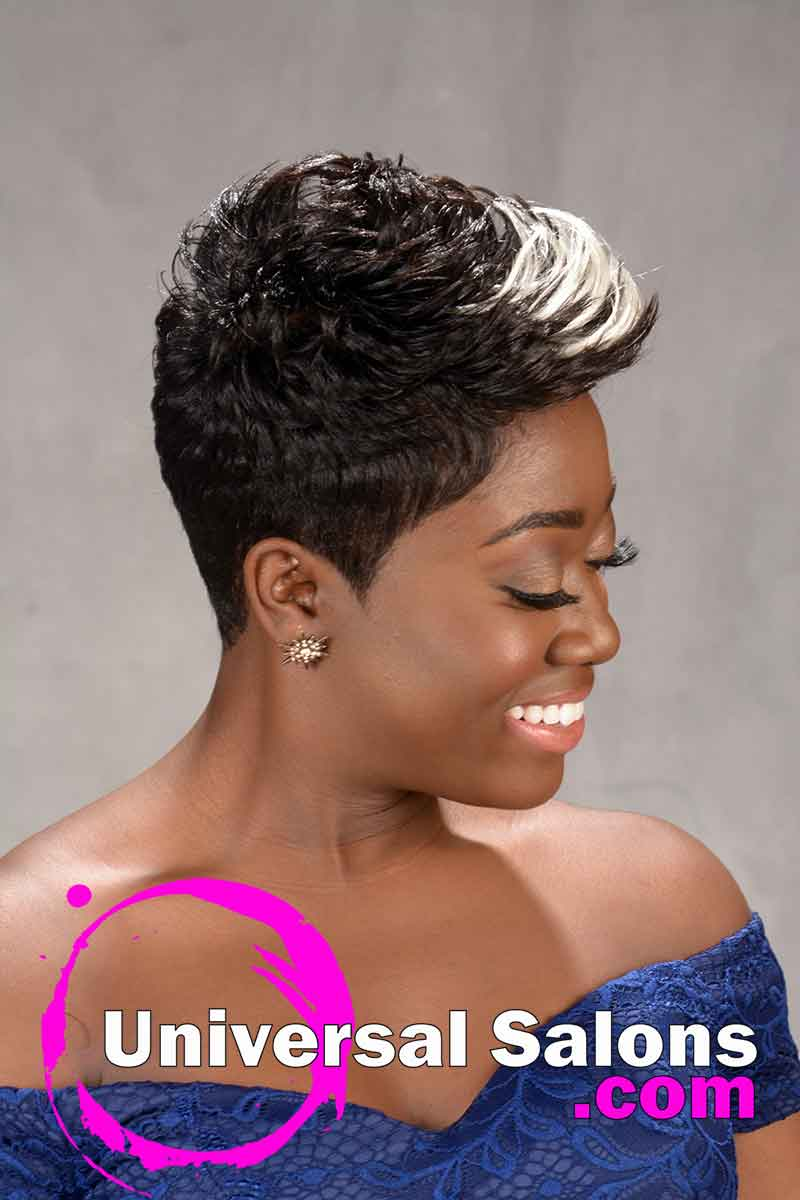 Pretty Prissy Pixie Hairstyle with Color from Shay Walker (2)