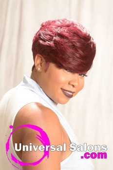 Short and Sassy Hairstyle with Color from Amber McClain (5)