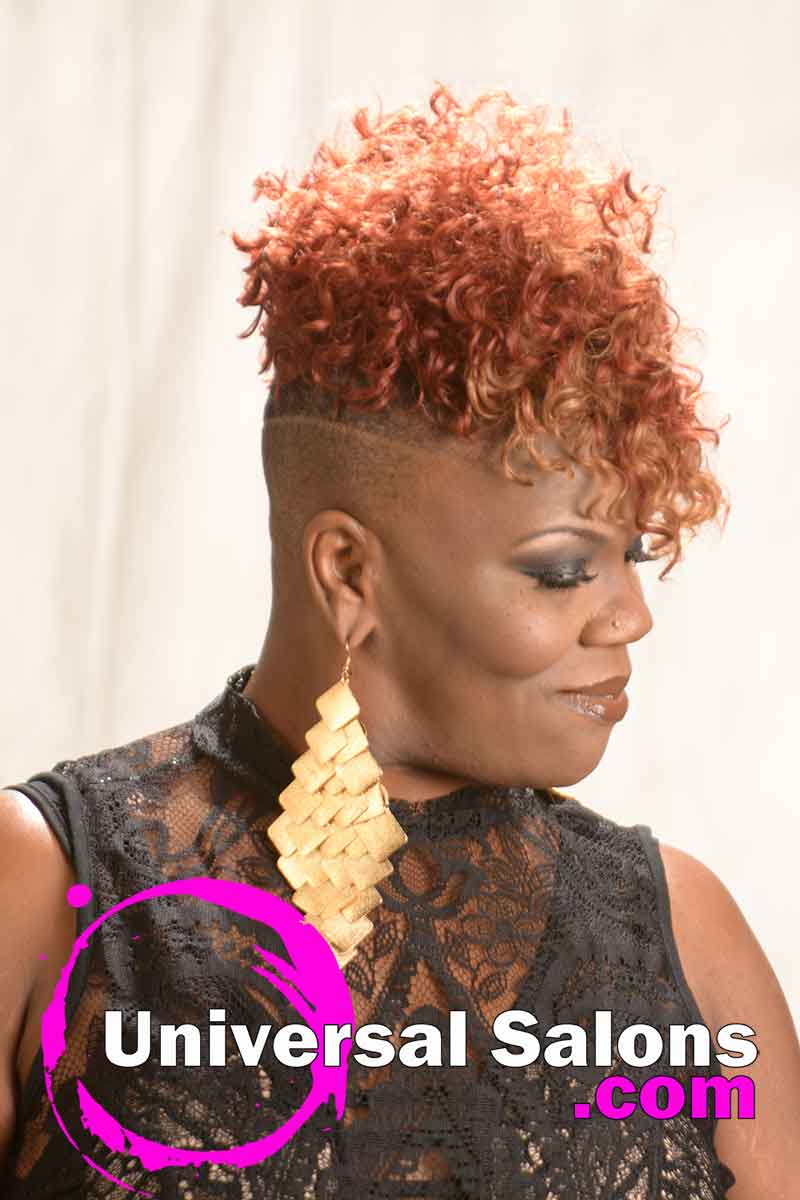 Short Curly Hairstyle with Tapered Sides from Katina King (3)