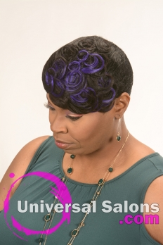 Short Hairstyle with Cobalt Blue Highlights from Kenya Young (4)