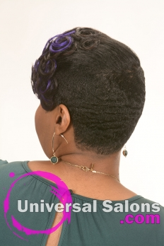 Short Hairstyle with Cobalt Blue Highlights from Kenya Young (5)