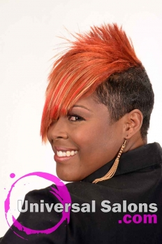 Short Hairstyle with Copper Hair Color from Kenya Young (3)