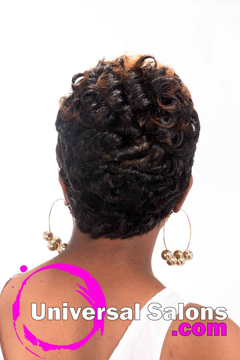 Short Hairstyle with Pin Curls and Color from Leona Burns (4)