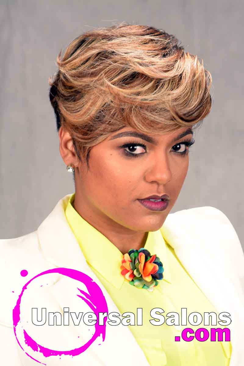 Short Hairstyle with Tapered Sides and Color from Tasha Hull (1)