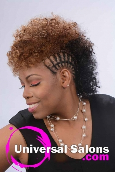 Side Braided Faux Mohawk with Hair Color from Patricia Clinkscales (3)