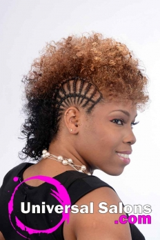 Side Braided Faux Mohawk with Hair Color from Patricia Clinkscales (4)