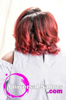 Silk Press with Color Melt Ombre Hairstyle from Dominique Blount (5)