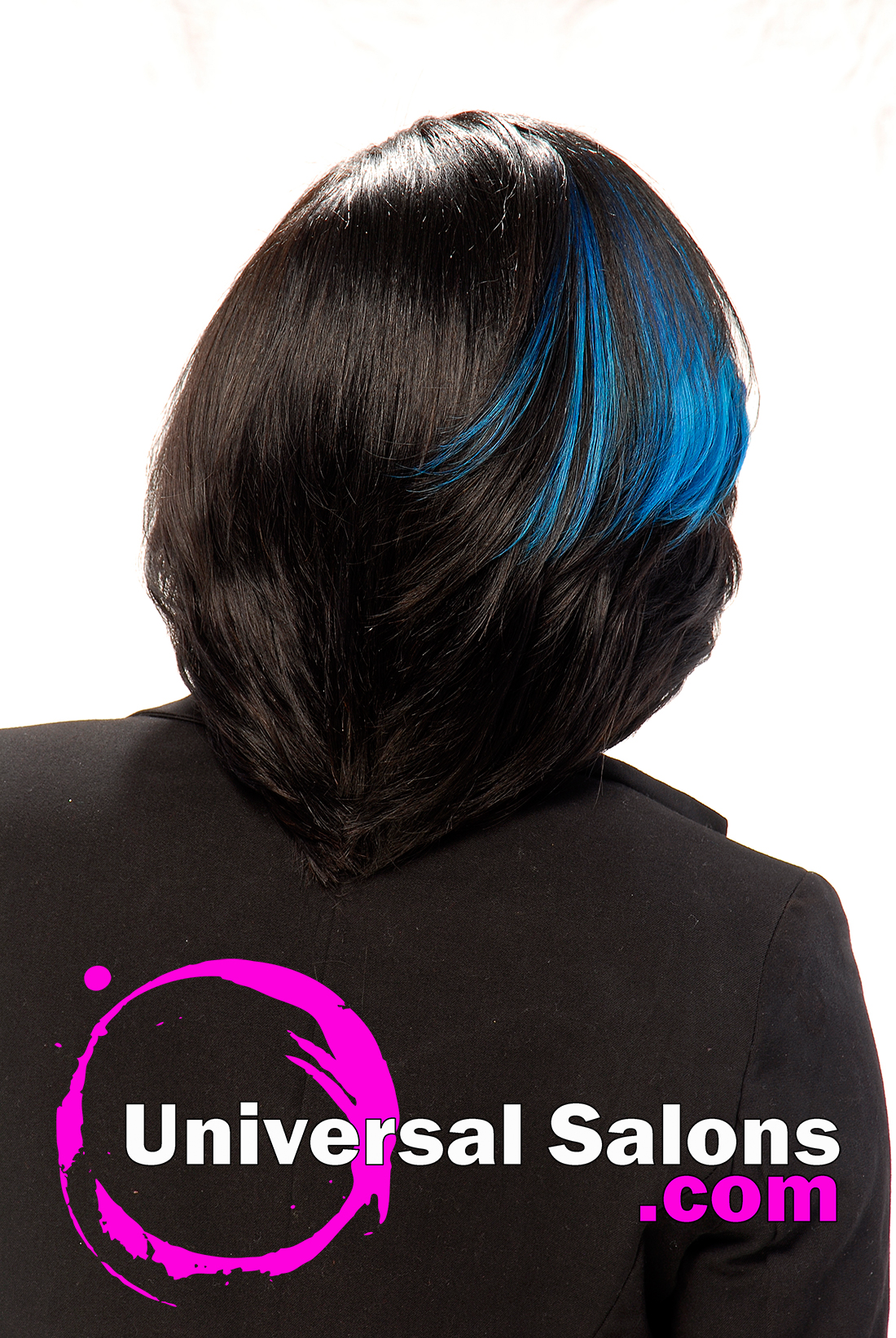 Bob Hairstyle with Blue Highlights from Denise Granberry