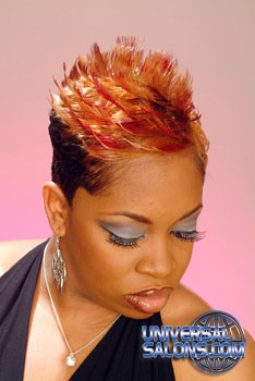 Short Hairstyle with Color and Flips from Constance Purnell