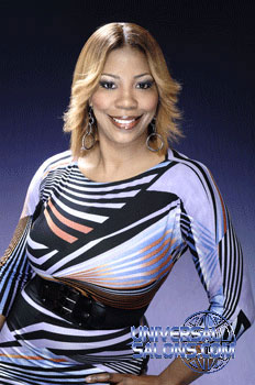 Antavia Crawford's Layered Highlighted Fringed Flip Bob Hairstyle