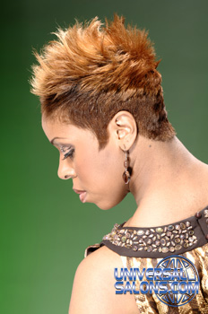 Short Hairstyle with Spikes and Hair Color from Cindy Pierce