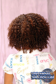 Back View: Natural Curly Bob black Hairstyle for Little Girls