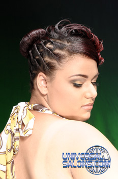 Updo's with Twist Curls and Hair Color from Rashida Walker