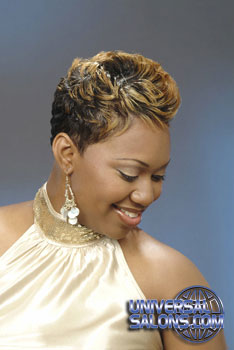 Beautiful Short Hairstyle with Color from Phyllis Williams