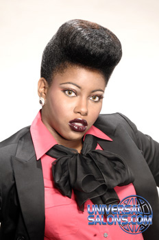 Natural Pompadour Hairstyle from Stephanie Cameron-Dailey