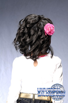 Back View: Curly Bob Black Hairstyles for Little Kids