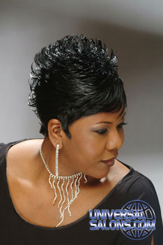 Short Hairstyle with Flips from Crystal Williams