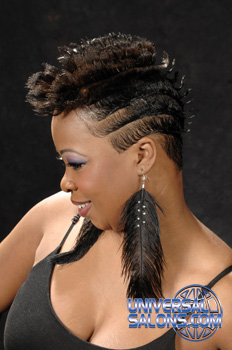 Staci Bradshaw's  Short Mohawk with Flips