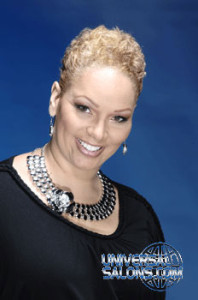 Short Natural, Curly Hairstyle with Hair Color from Sherelle Wofford