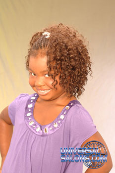 Left Side: Little Girl with Cornrows and Tight Curls