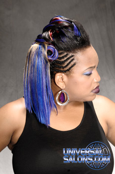 Elegant Ponytail with Cornrows and Hair Color from Felix A. McNeill