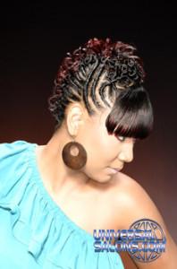Elegant Twist Faux Hawk with Highlights from Lynn Mayen