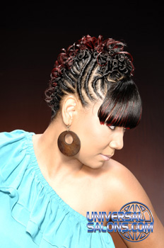 Elegant Twist Faux Hawk with Highlights from Lynn Mayen