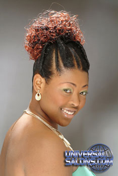 Updo Hairstyle Hairstyle with Color and Twist from Ayanna Graves
