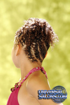 Back View: Little Girl wearing French Braid Cornrows