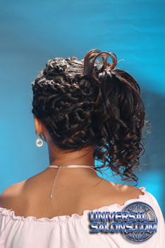 Back Side: Curled Side Ponytail Black Hairstyles for Little Girls