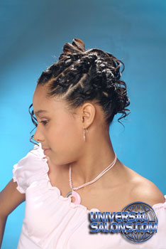 Left Side: Curled Side Ponytail Black Hairstyles for Little Girls