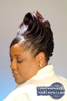 Updo Hairstyle With Ridges From Garnett Jett Black
