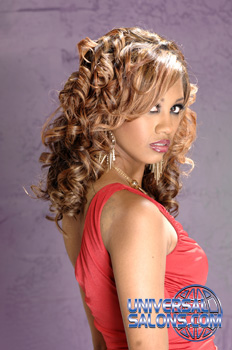 Bang'n Hues of Blonde Long Curly Hairstyle from Jackie Evans